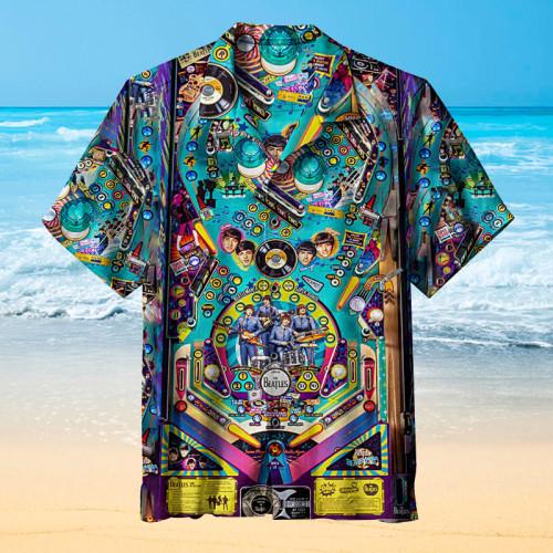 BEATLES PINBALL Retro Hawaiian shirt