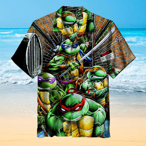Teenage Mutant Ninja Turtles on the move |Universal Hawaiian Shirt