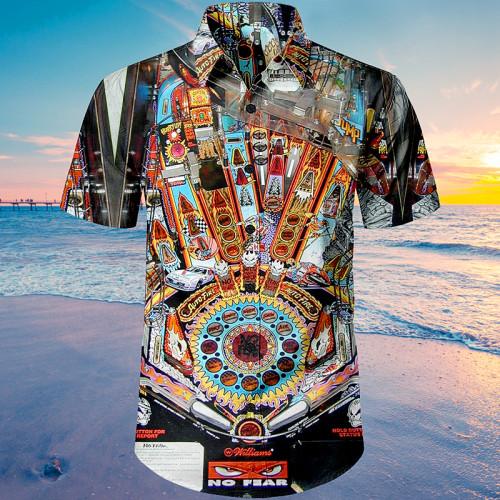 No Fear, Dangerous Sports Pinball |Unisex Hawaiian Shirt