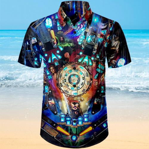 Pirates of the Caribbean Pinball |Unisex Hawaiian Shirt
