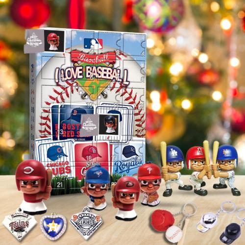 Baseball Advent Calendar -- The One With 24 Little Doors🎄