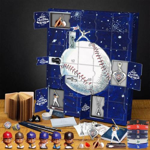 Baseball Advent Calendar -- The One With 24 Little Doors