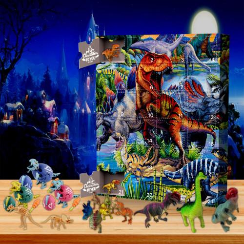 2021 Dinosaur Advent Calendar -- The One With 24 Little Doors