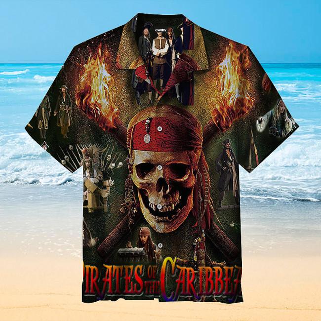 Pirate skull style Hawaiian shirt