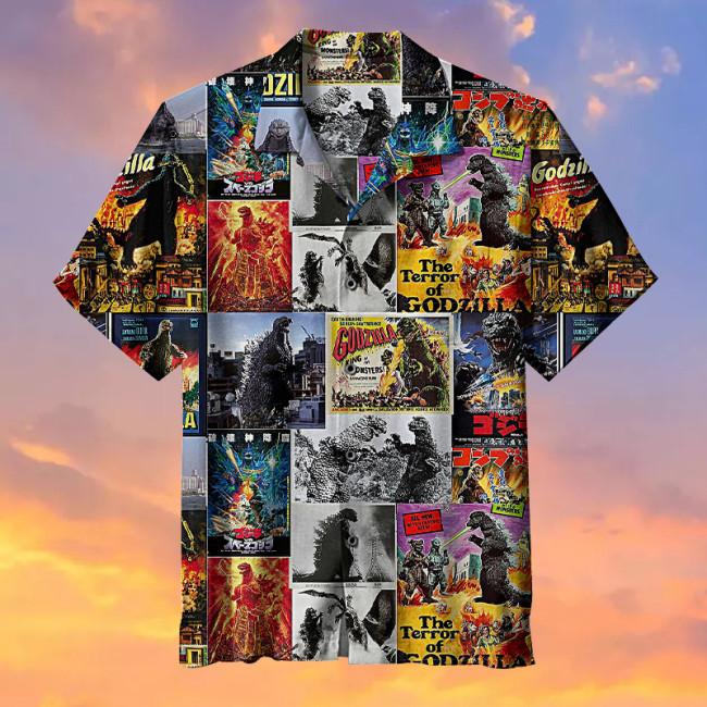 Godzilla Collage Hawaiian Shirt