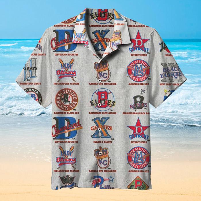 Baseball Black League Hawaiian shirt