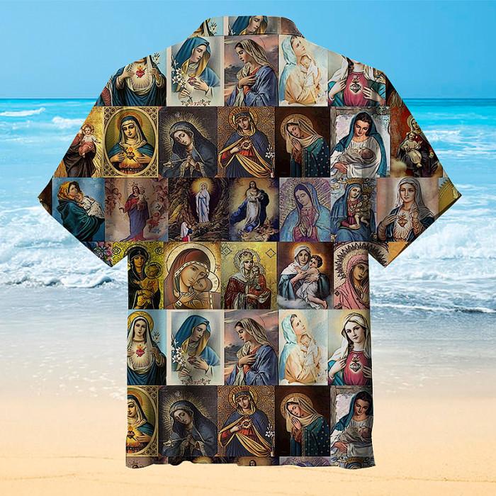 Virgin Mary Hawaiian shirt