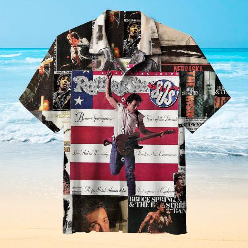 Bruce Springsteen Rock Hawaiian shirt