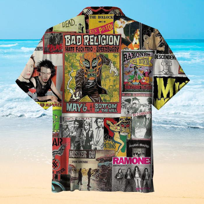 Punk Rock Hawaiian shirt