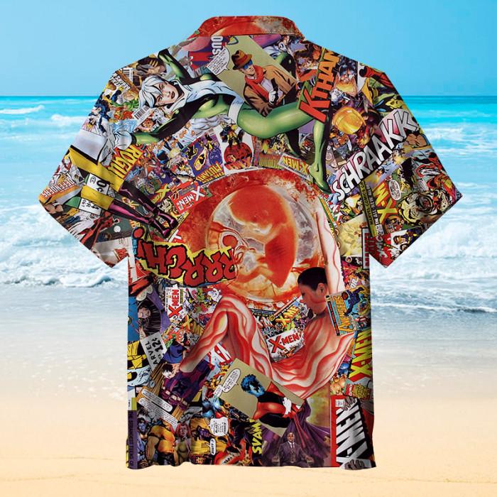 X-Men Birth Record Hawaiian shirt