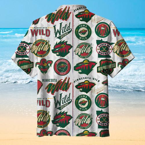 Hockey logo Hawaiian shirt