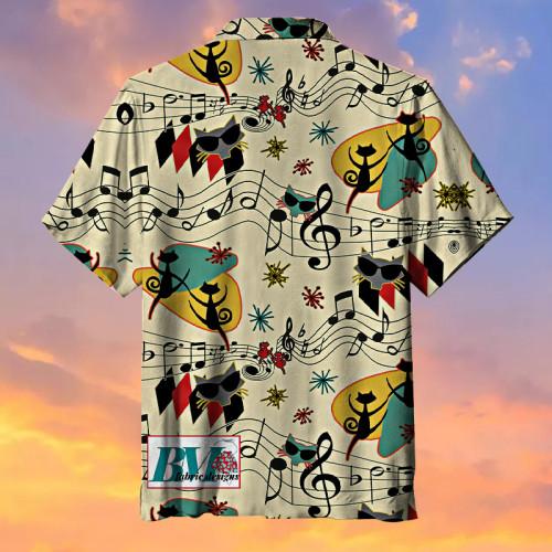 Rock Cool Cat Hawaiian Shirt