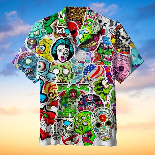 Horror Skull Hawaiian Shirt