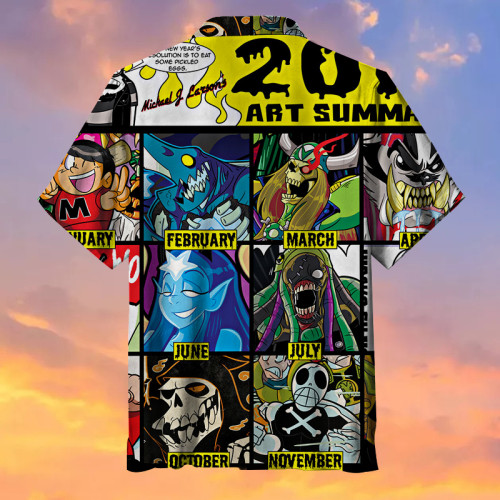 The Art of Fear Hawaiian Shirt
