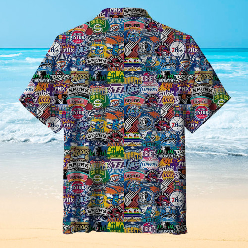 NBA team emblem Hawaiian shirt