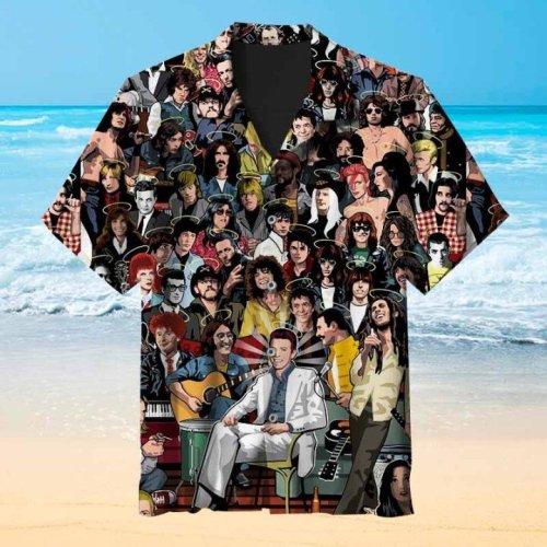 All your favorite rockstars Hawaiian shirt