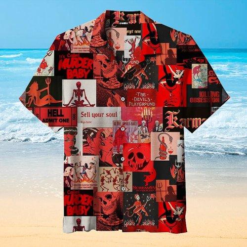 Blood Red Devil Movie Hawaiian Shirt