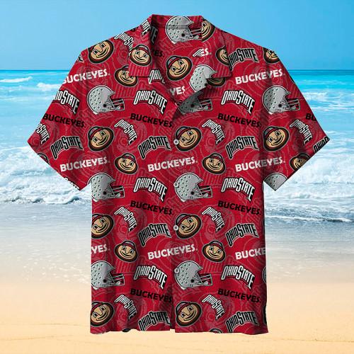 Ohio State Seven Leaves Baseball Team Hawaiian Shirt