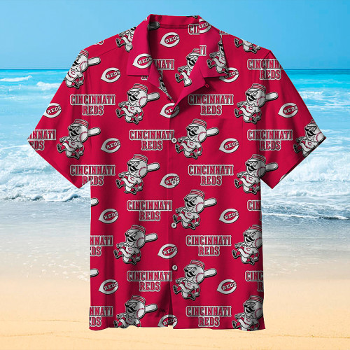Cincinnati Reds baseball team Hawaiian shirt