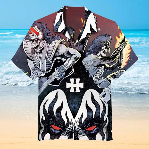 Kiss Rock Band Hawaiian Shirt
