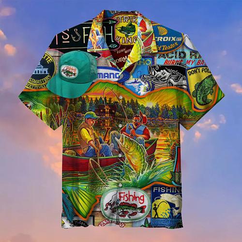 I love fishing Hawaiian shirts