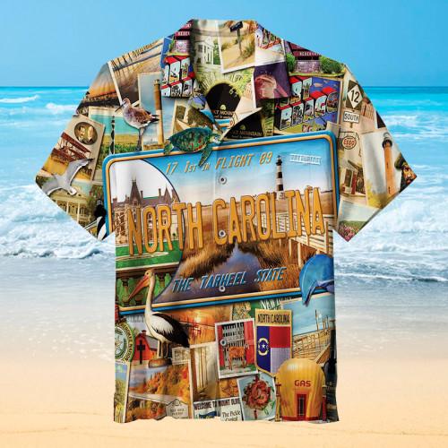 I love north carolina Hawaiian shirt