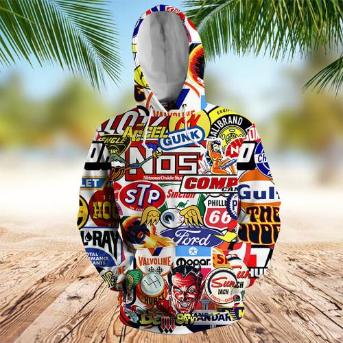 Racing Car Labeling hoodie