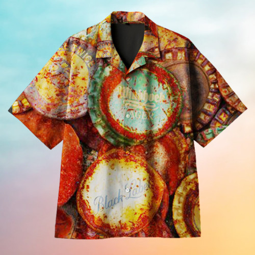 Rusty Beer Lid Collection Art Hawaiian Shirt