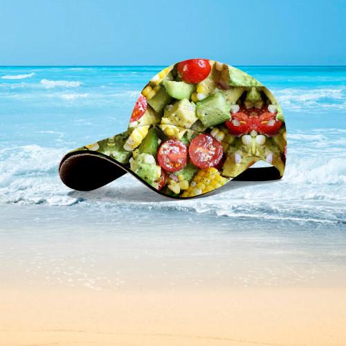 Vegetable salad gourmet hawaiian hat