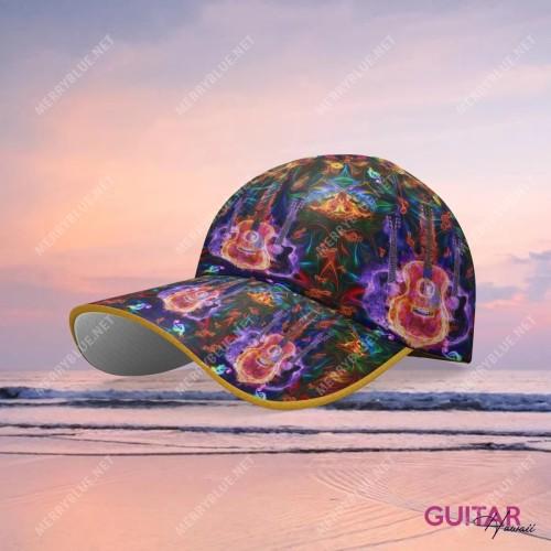 Amazing Guitar Hawaiian Cap