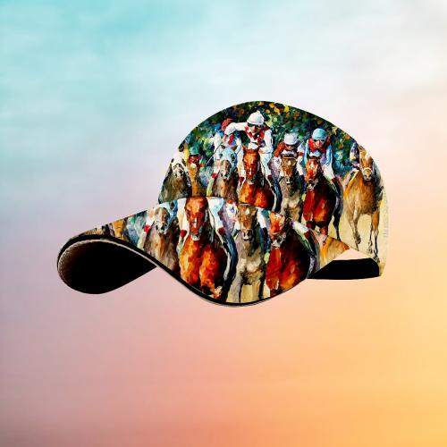 Racetrack style Hawaiian hat