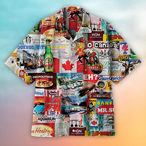 I Love Canada Hawaiian shirt