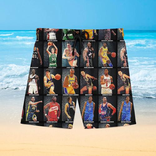 NBA star Hawaiian beach pants