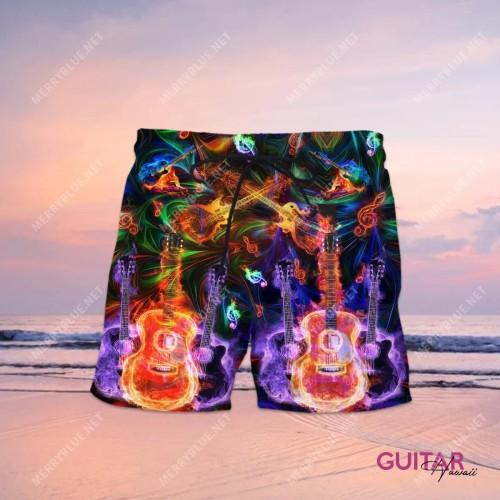 Amazing Guitar Hawaiian Shorts