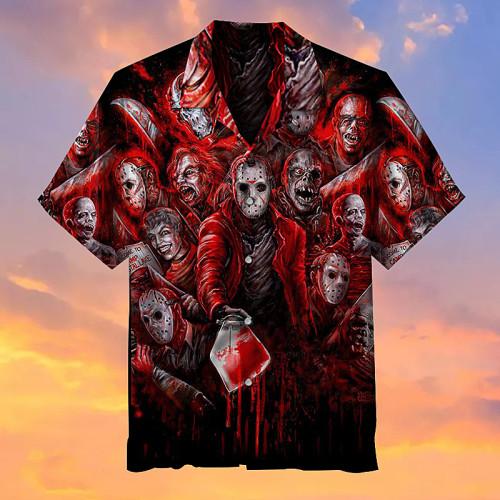 Friday 13th Jason Voorhees horror film Hawaiian shirt