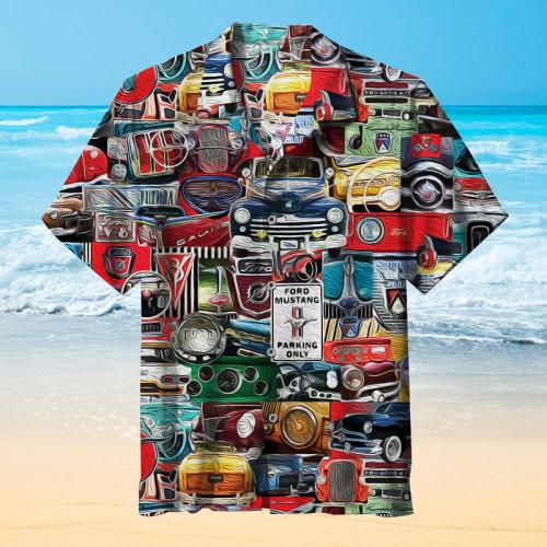Ford car logo collection Hawaiian shirt