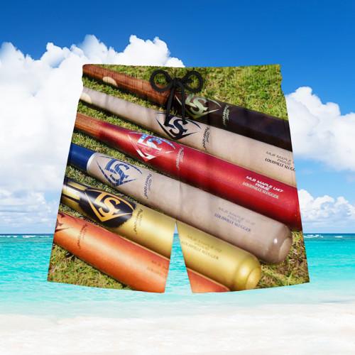 Baseball bat Hawaiian beach pants