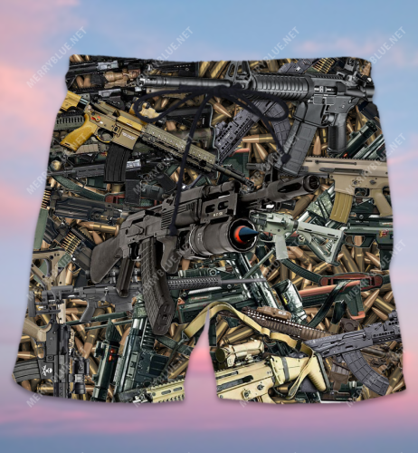 The Quickest Way To A Man's Heart Is 2970 Feet Per Second Unisex Hawaiian Shorts