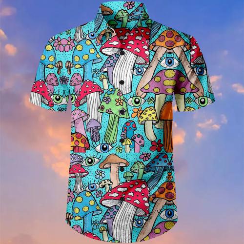 Psychedelic Mushroom Hawaiian Shirt