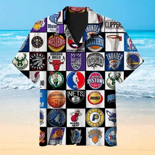NBA Basketball Team Badge Hawaiian Shirt