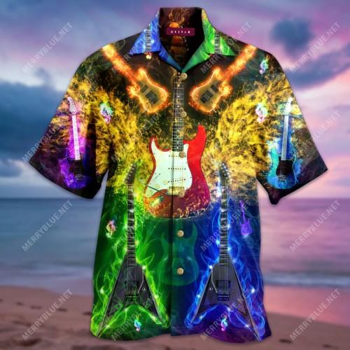 Guitars Set Me Free Unisex Hawaiian Shirt