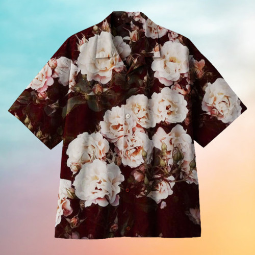 Blooming rose flower Hawaiian shirt