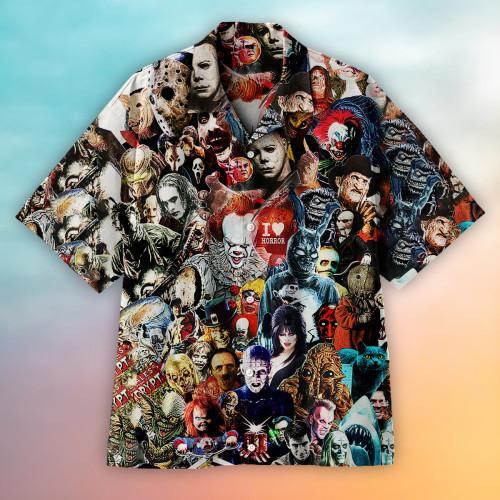 I love horror Hawaiian shirt