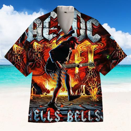 AC/DC band Hawaiian shirt