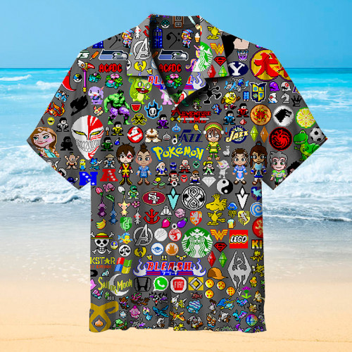 Popular pixels Hawaiian shirt