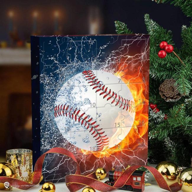 📅Christmas Baseball Advent Calendar -- The One With 24 Little Doors