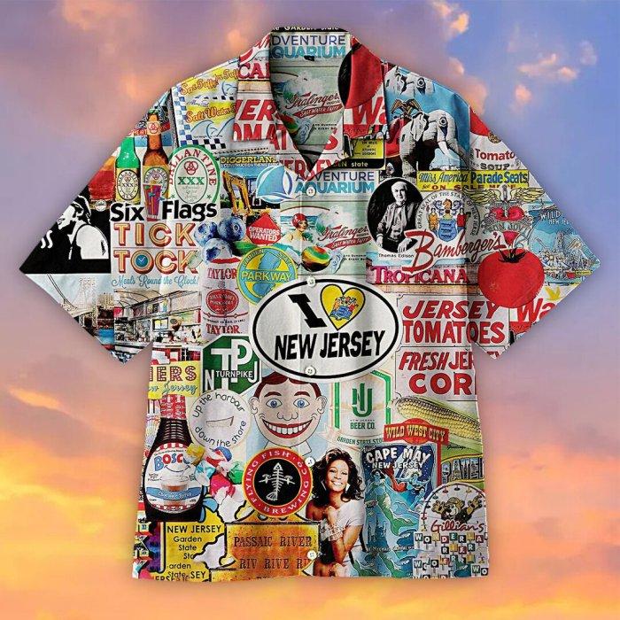 I Love New Jersey Hawaiian shirt