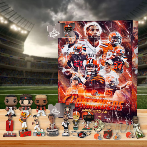 Cleveland Browns Advent Calendar-- The One With 24 Little Doors