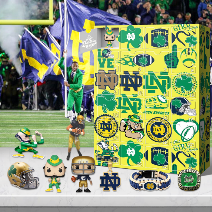 Notre Dame Fighting Irish Advent Calendar 2021-- 🎁The One With 24 Little Doors