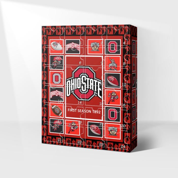 Ohio Buckeyes Advent Calendar 2021-- The One With 24 Little Doors